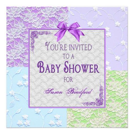 Invitación de la fiesta de bienvenida al bebé - co