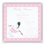 Invitación de la fiesta de bienvenida al bebé de invitación 13,3 cm x 13,3cm