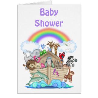 Invitación de la fiesta de bienvenida al bebé de tarjeta de felicitación
