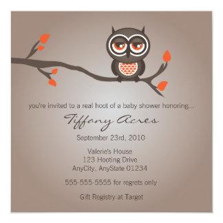 Invitación de la fiesta de bienvenida al bebé del invitación 13,3 cm x 13,3cm