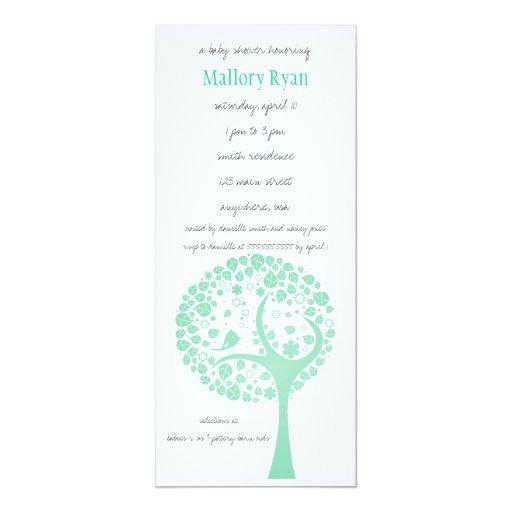 Invitación de la fiesta de bienvenida al bebé del invitación 10,1 x 23,5 cm