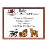 Invitación de la fiesta de bienvenida al bebé del  tarjeta postal