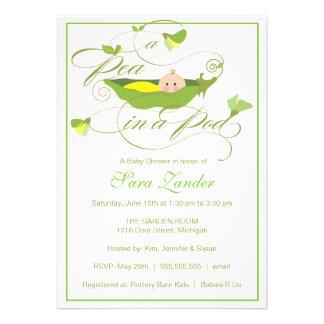 Invitación de la fiesta de bienvenida al bebé - gu