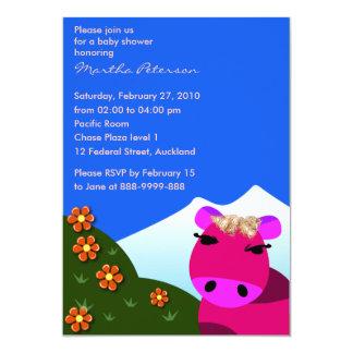 Invitación de la fiesta de bienvenida al bebé: MOO