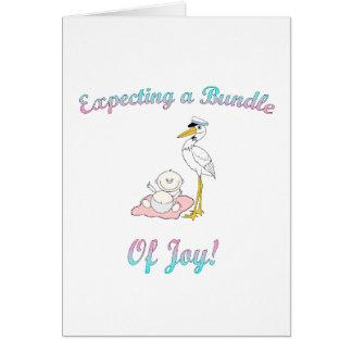Invitación de la fiesta de bienvenida al bebé tarjeta de felicitación