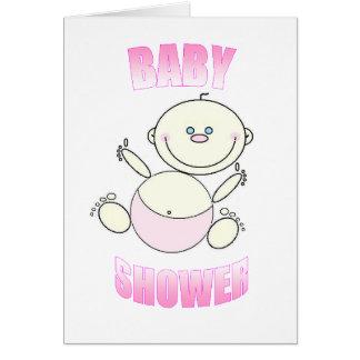 Invitación de la fiesta de bienvenida al bebé tarjeta pequeña