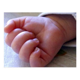 Invitación de la fiesta de bienvenida al bebé tarjeta postal
