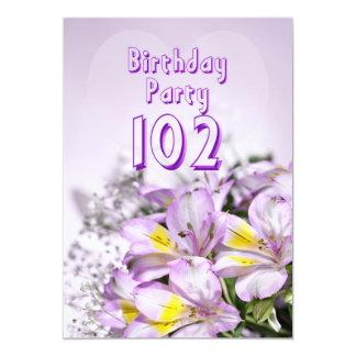 Invitación de la fiesta de cumpleaños 102 años