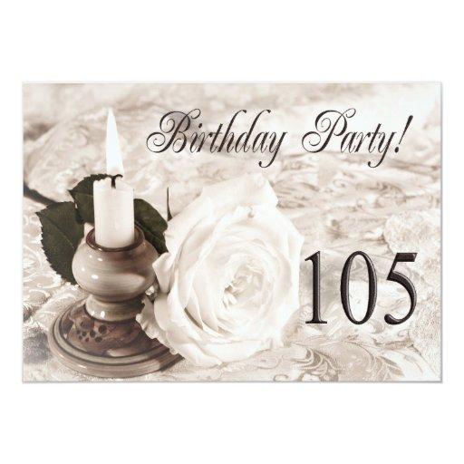 Invitación de la fiesta de cumpleaños 105 años