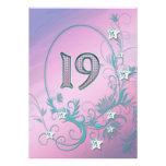 Invitación de la fiesta de cumpleaños 19 años