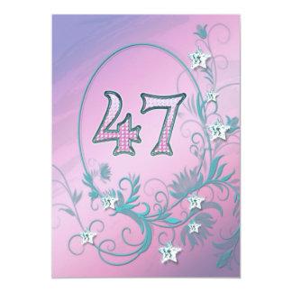 Invitación de la fiesta de cumpleaños 47 años