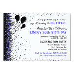 Invitación de la fiesta de cumpleaños - 50.a - invitación 12,7 x 17,8 cm