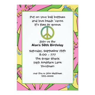invitación de la fiesta de cumpleaños 60s