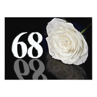 Invitación de la fiesta de cumpleaños 68 años