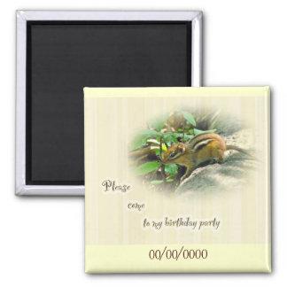 Invitación de la fiesta de cumpleaños - Chipmunk Iman De Frigorífico