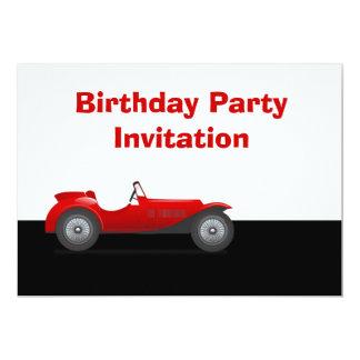 Invitación de la fiesta de cumpleaños con el coche