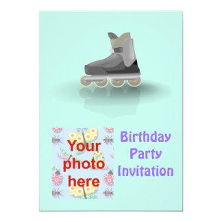 Invitación de la fiesta de cumpleaños con la foto
