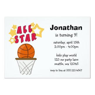 Invitación de la fiesta de cumpleaños de All Star