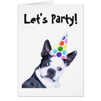 Invitación de la fiesta de cumpleaños de Boston Te Tarjeta