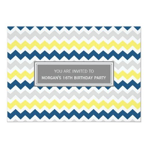 Invitación de la fiesta de cumpleaños de Chevron