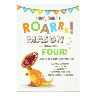 Invitación de la fiesta de cumpleaños de Dino del