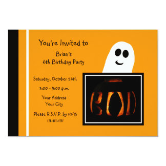Invitación de la fiesta de cumpleaños de Halloween