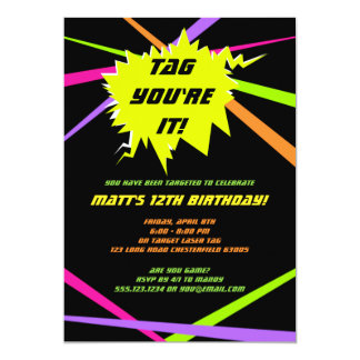 Invitación de la fiesta de cumpleaños de la