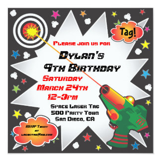 Invitación de la fiesta de cumpleaños de la invitación 13,3 cm x 13,3cm