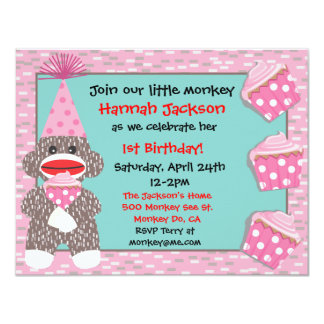 Invitación de la fiesta de cumpleaños de la invitación 10,8 x 13,9 cm