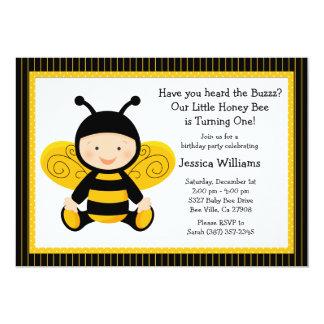 Invitación de la fiesta de cumpleaños de la abeja