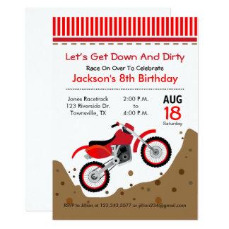 Invitación de la fiesta de cumpleaños de la bici