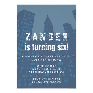 Invitación de la fiesta de cumpleaños de la ciudad