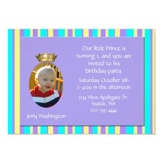 Invitación de la fiesta de cumpleaños de la corona