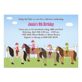 Invitación de la fiesta de cumpleaños de la equita