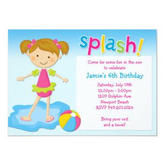 Invitación de la fiesta de cumpleaños de la fiesta