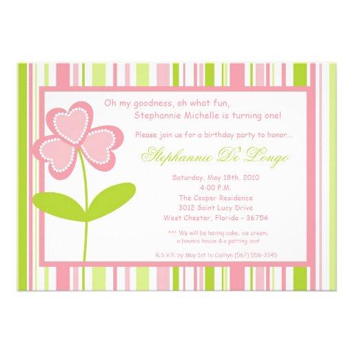 invitación de la fiesta de cumpleaños de la flor d