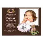 Invitación de la fiesta de cumpleaños de la foto d