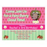 Invitación de la fiesta de cumpleaños de la fresa