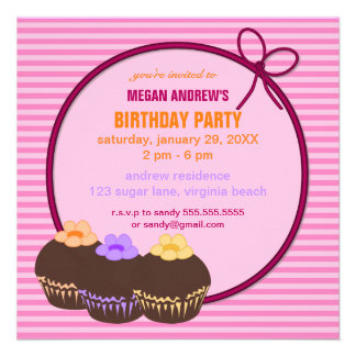 Invitación de la fiesta de cumpleaños de la magdal