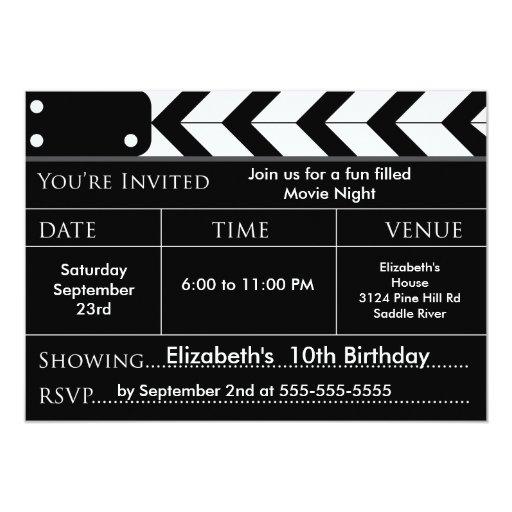 Invitación de la fiesta de cumpleaños de la NOCHE