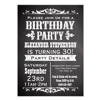 Invitación de la fiesta de cumpleaños de la pizarr