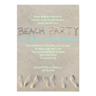 Invitación de la fiesta de cumpleaños de la PLAYA