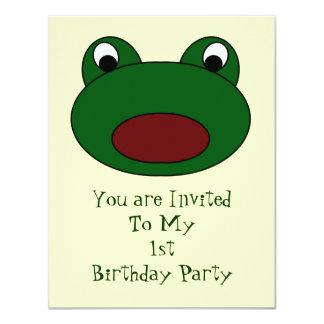 Invitación de la fiesta de cumpleaños de la rana