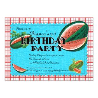Invitación de la fiesta de cumpleaños de la sandía