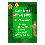 Invitación de la fiesta de cumpleaños de la selva