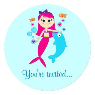 Invitación de la fiesta de cumpleaños de la sirena
