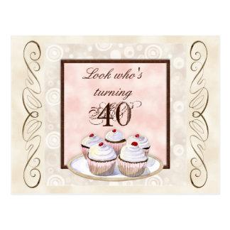 Invitación de la fiesta de cumpleaños de la postal