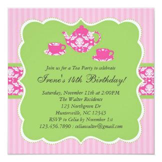 Invitación de la fiesta de cumpleaños de la tetera