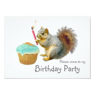 Invitación de la fiesta de cumpleaños de la vela invitación 11,4 x 15,8 cm
