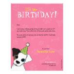 Invitación de la fiesta de cumpleaños de las patas plantillas de membrete